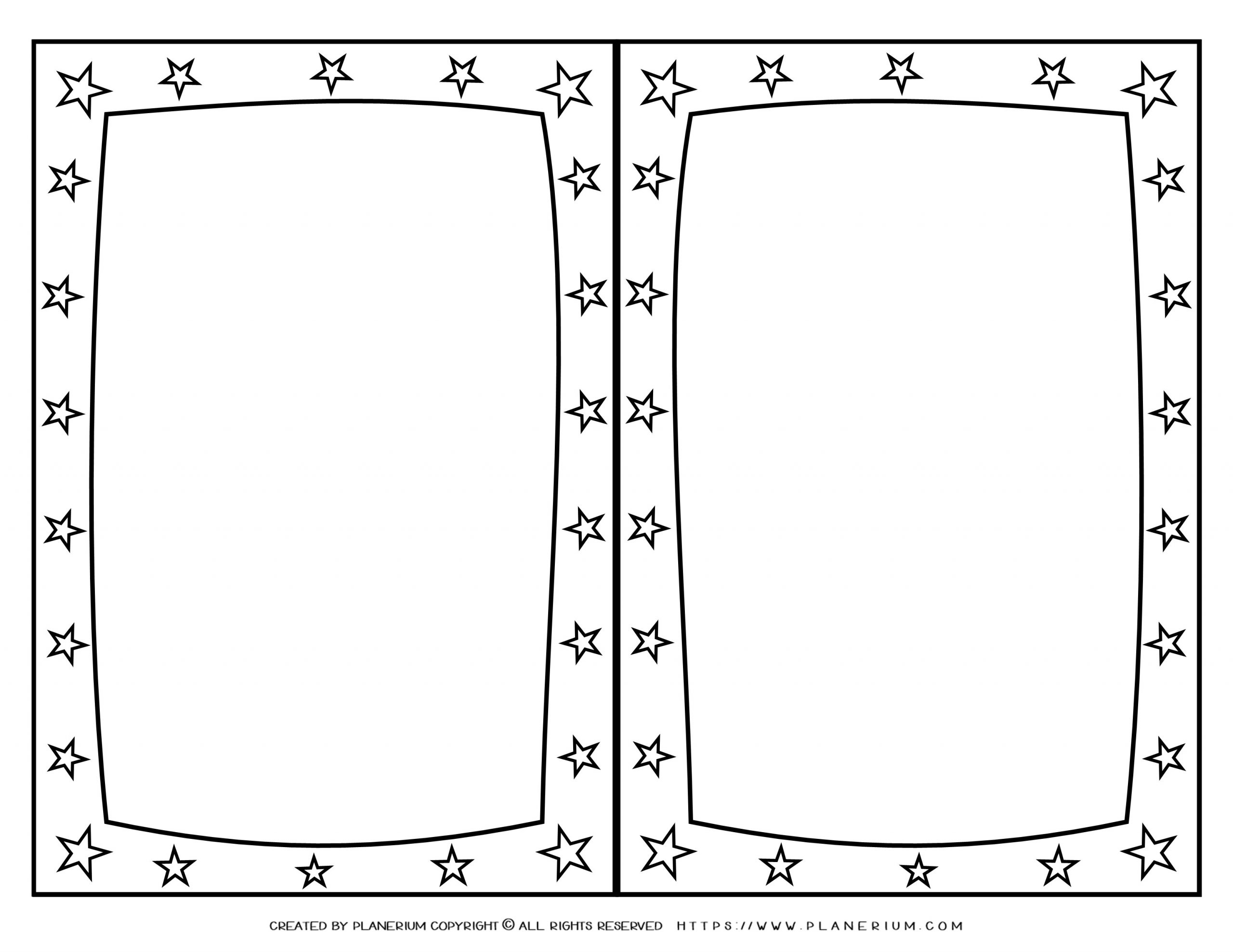 Mother's Day - Coloring Page - Greeting Stars Frame