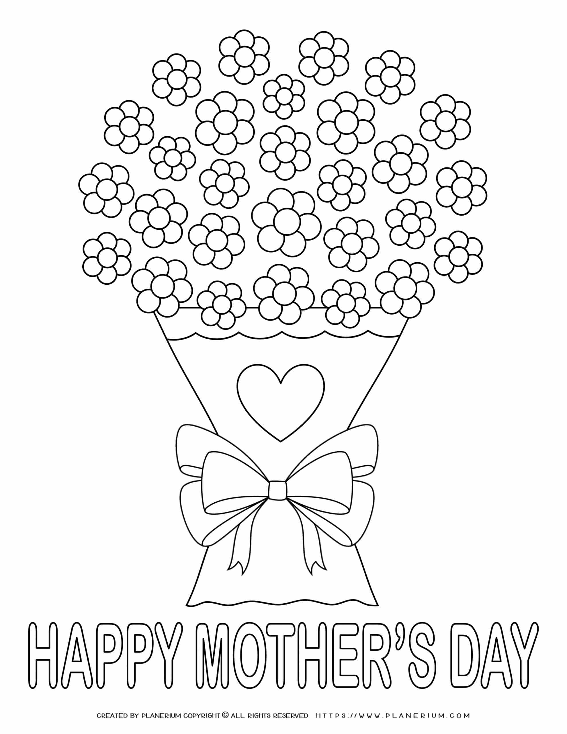 Mother's Day - Coloring Page - Flowers for Mom