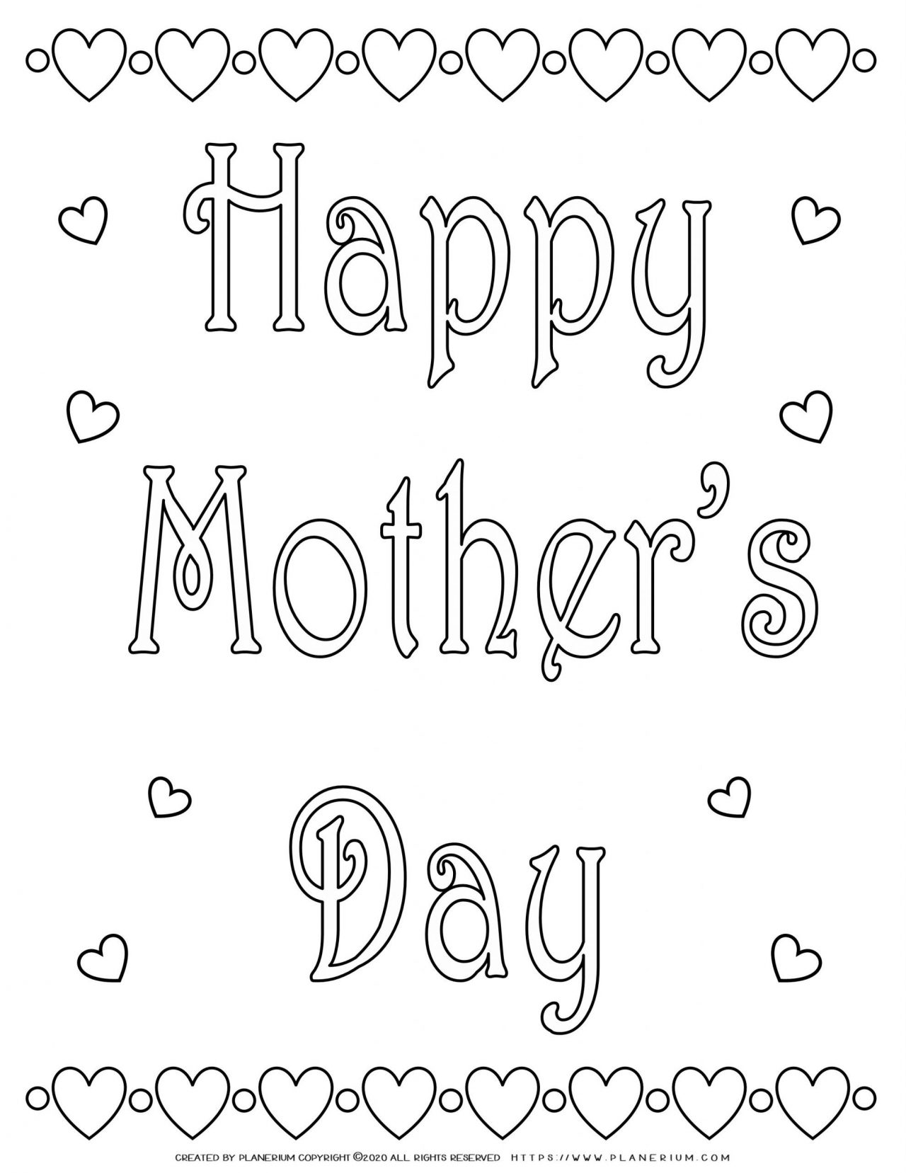 Mother's day - Coloring Page - Happy Mother's Day