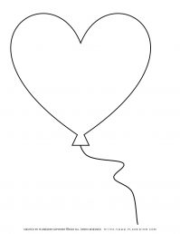 Mother's day - Coloring Page - Big Heart Balloon