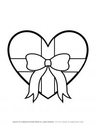 Mother's day - Coloring Page - Heart Present