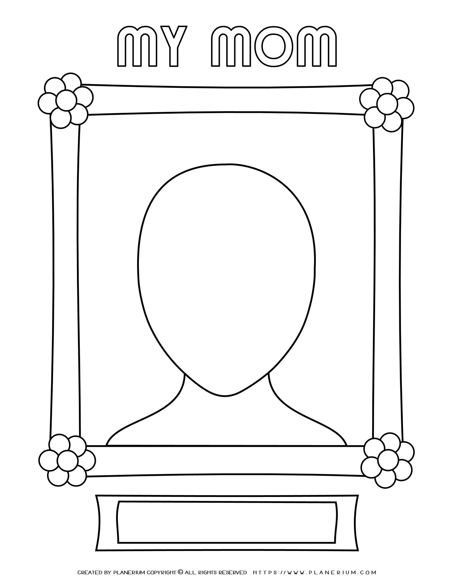 Mother's Day - Coloring Page - My mom portrait