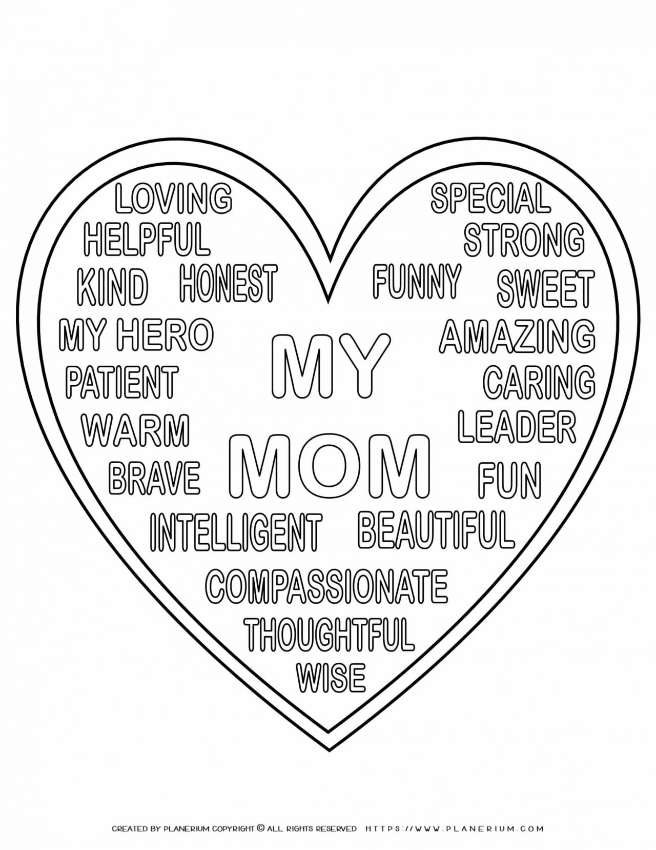 Mother's Day - Coloring Page - My Mother