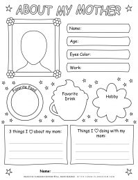 Mother's Day - Worksheet - About my Mother
