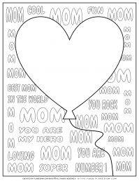 Mother's Day - Coloring Page - Greeting Card