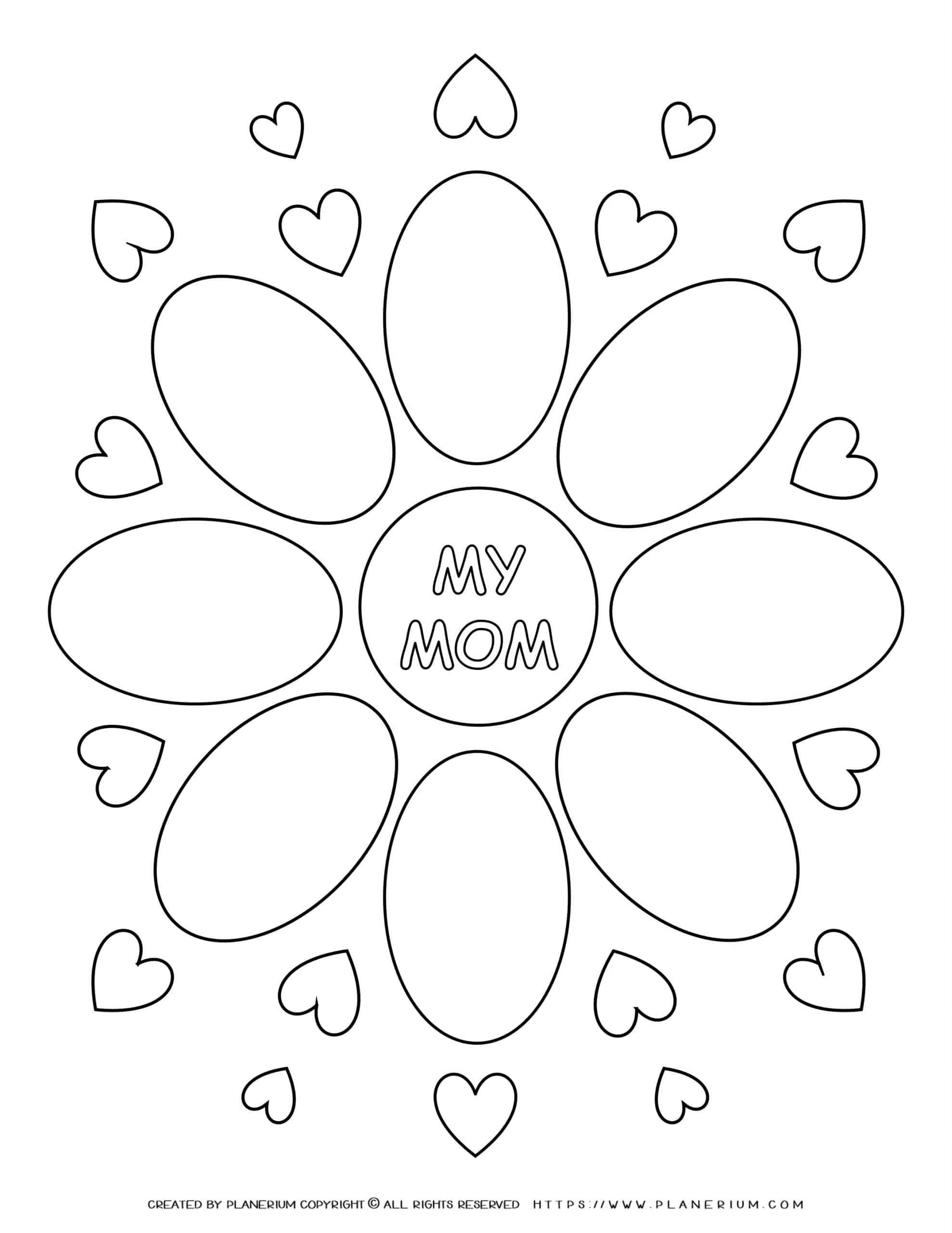 Mother's day - Worksheet - My mom Flower