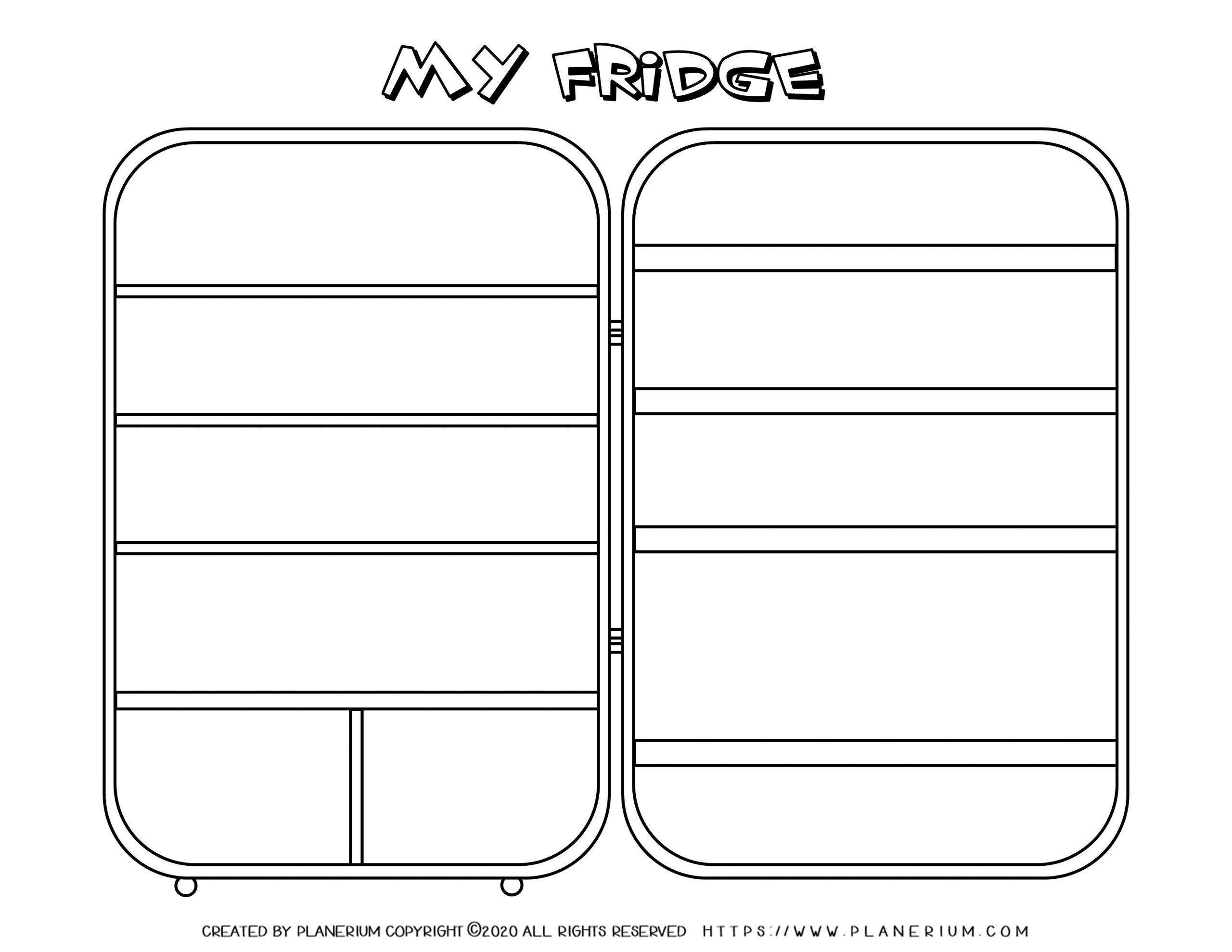 My Home - Coloring Page - My Fridge