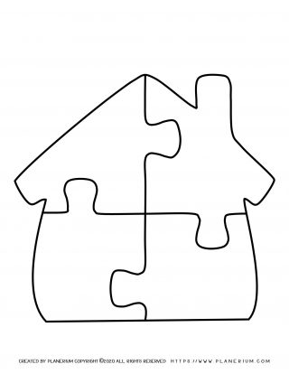 My Home - Coloring Page - Home Puzzle