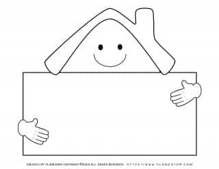 My Home - Coloring Page - Home Sign