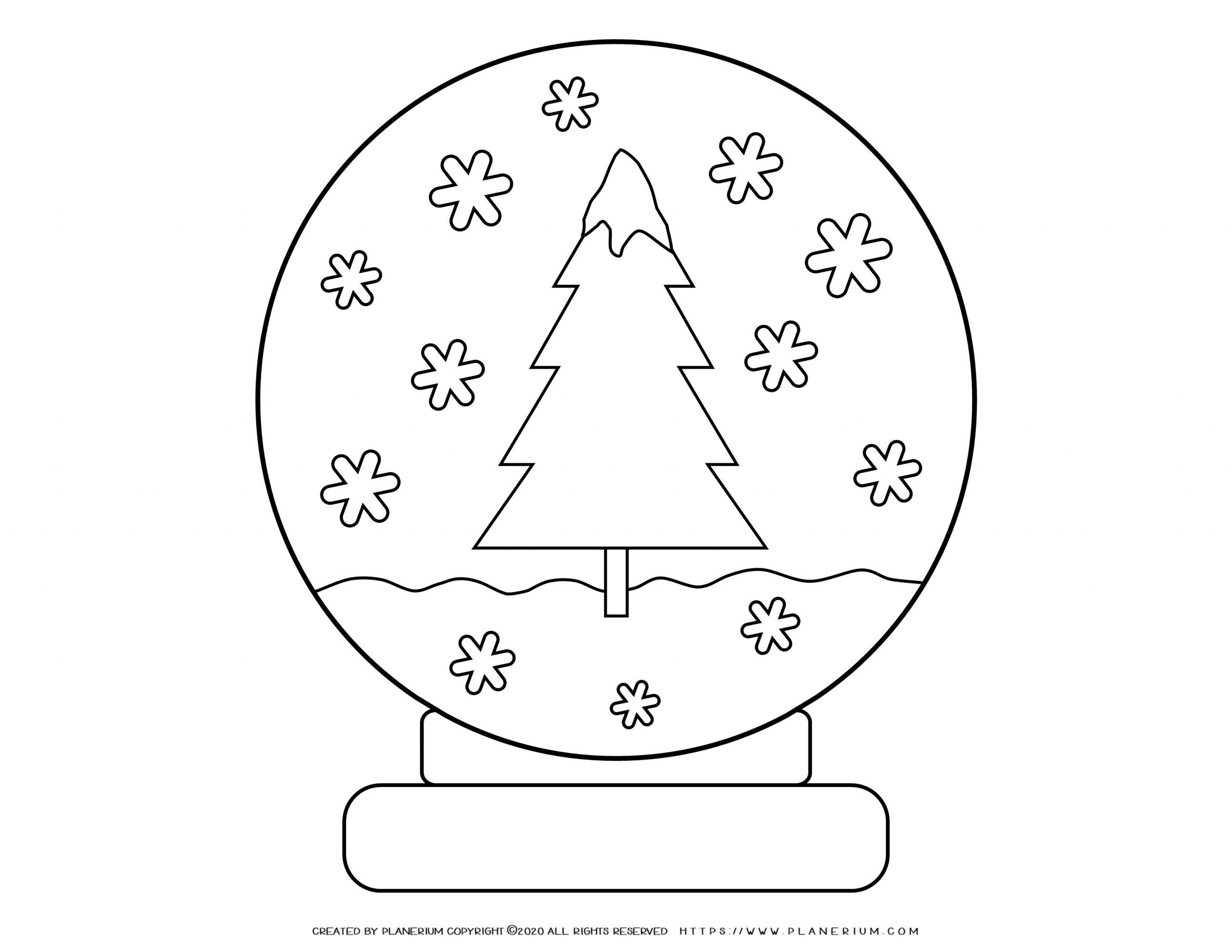 Winter coloring page - Snowflakes Ball | Planerium