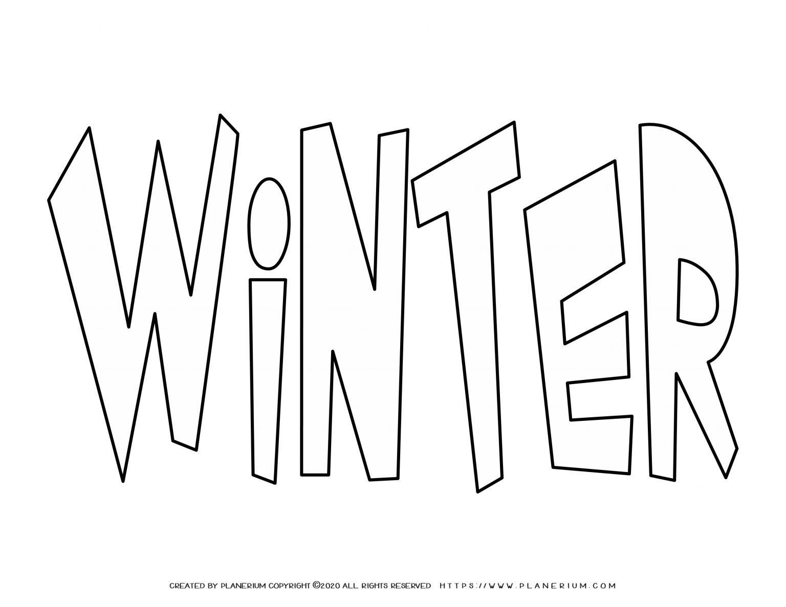 Winter Coloring Page - Large Title   Planerium