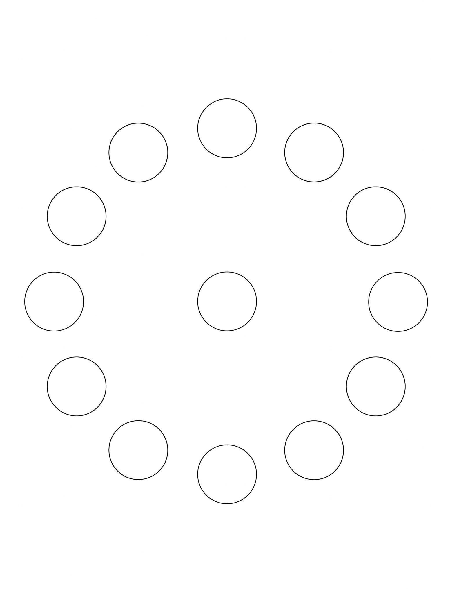 All Seasons - Coloring Page - Circle of Circles