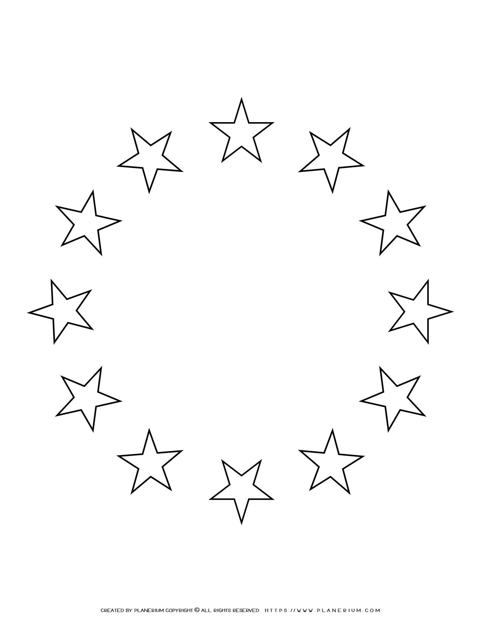 All Seasons - Coloring Page - Circles of Stars