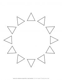 All Seasons - Coloring Page - Circles of Triangles