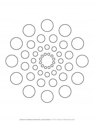 All Seasons - Coloring Page - Circles Mandala