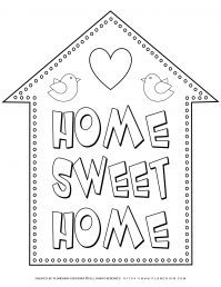 My Home - Coloring Page - Home Sweet Home