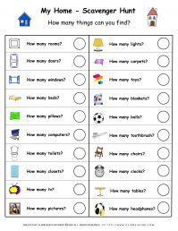 My Home - Worksheet - Home Hunt