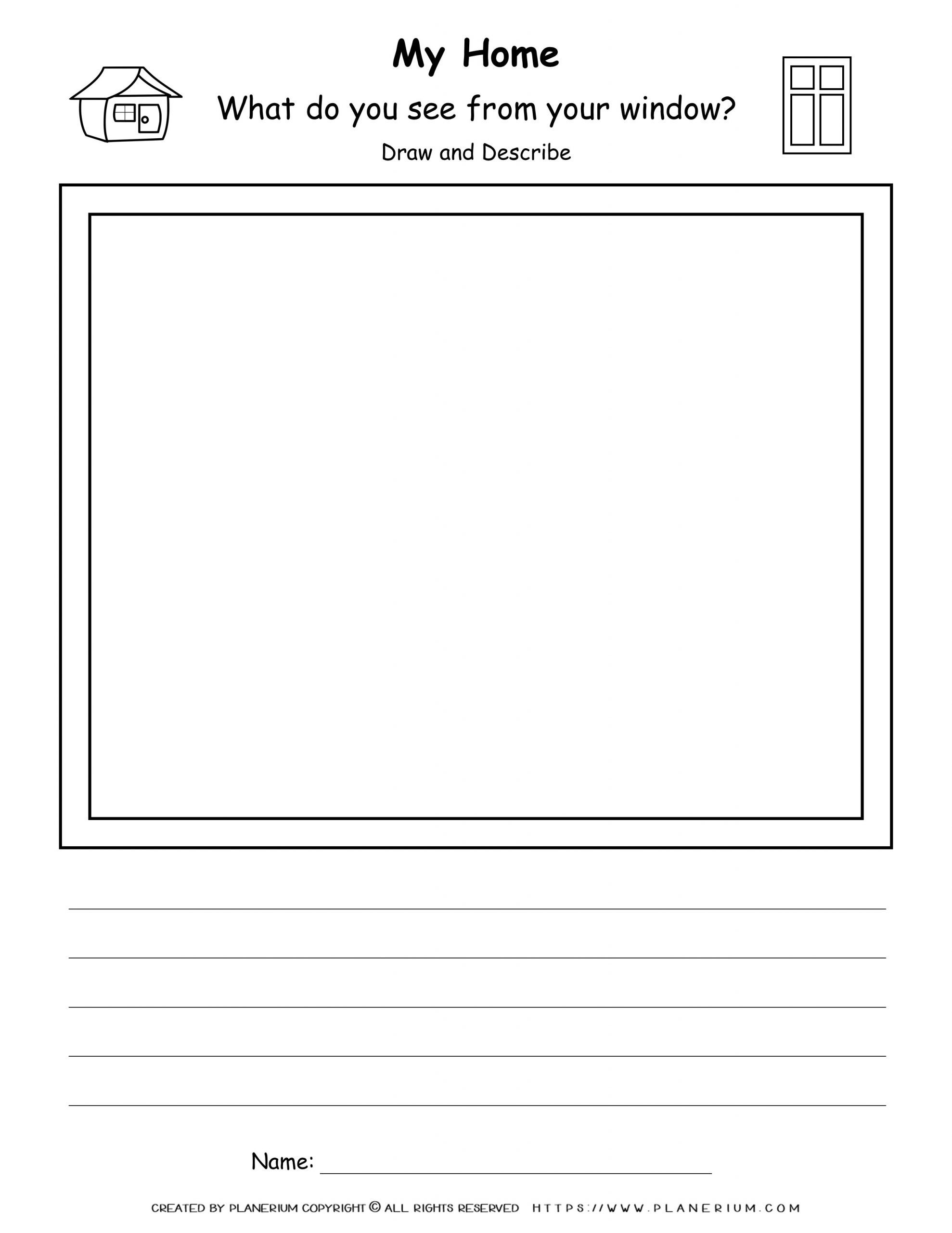 My Home - Worksheet - View From My Windlow