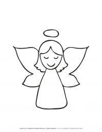 Christmas Angel Coloring Page | Free Printables | Planerium