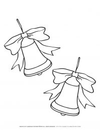 Christmas Bells Coloring Page | Free Printables | Planerium
