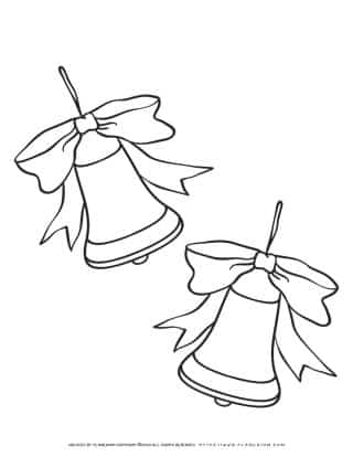 Christmas Bells Coloring Page   Free Printables   Planerium