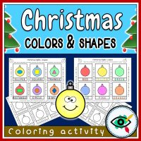 Christmas Coloring Activity - Shapes and Lights - Featured | Planerium