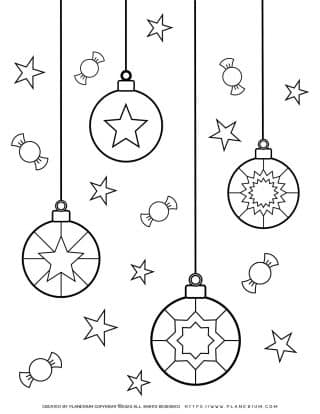 Christmas Lights Coloring Page | Free Printables | Planerium