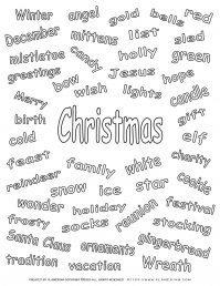 Christmas Related Words | Free Printables | Planerium