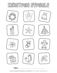 Christmas Symbols Coloring Page | Free Printables | Planerium