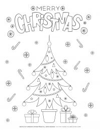 Christmas Tree Coloring Page | Free Printables | Planerium