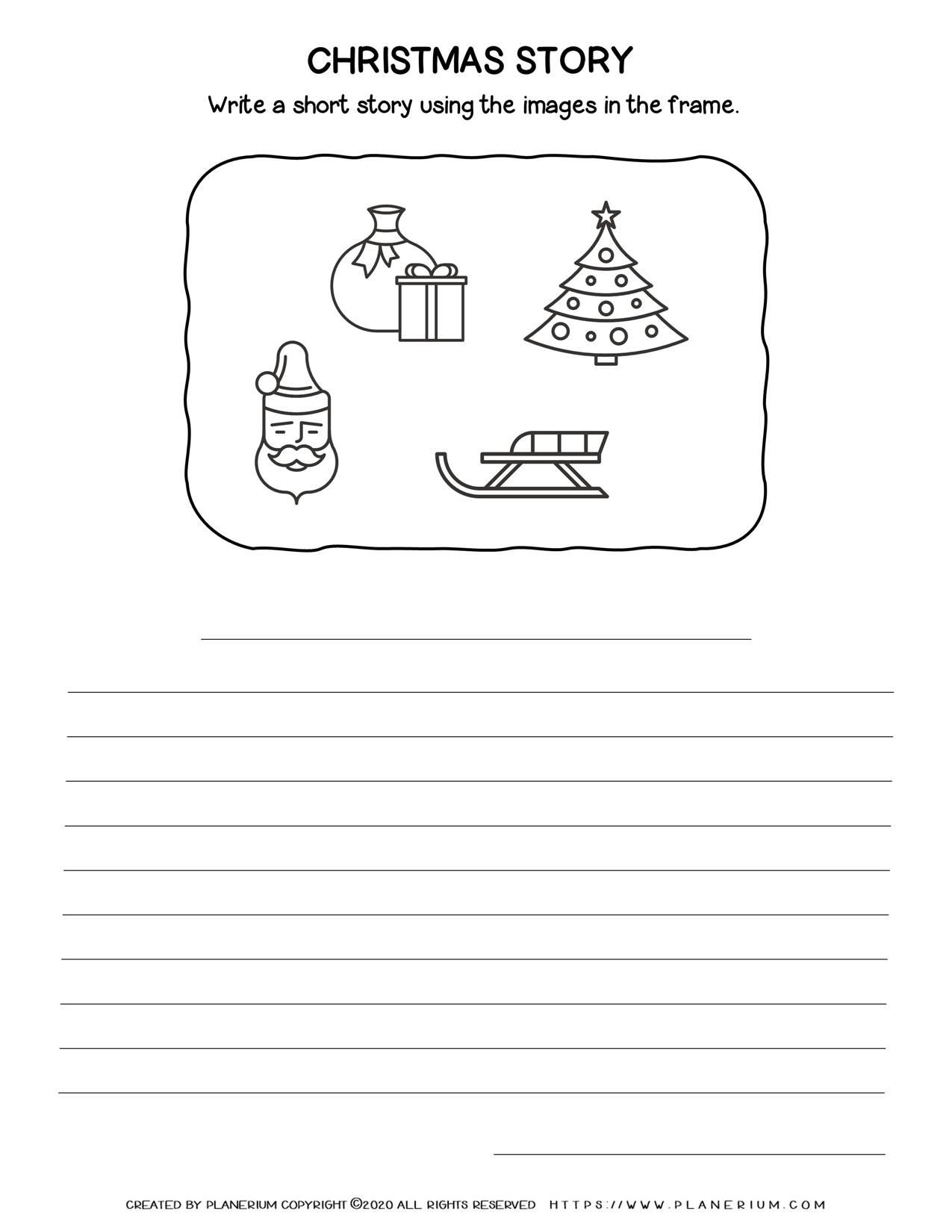 Christmas Worksheet - Narrative Writing | Free Printables | Planerium