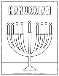Hanukkah Coloring Pages - Hanukkah Menorah - Free Printable | Planerium