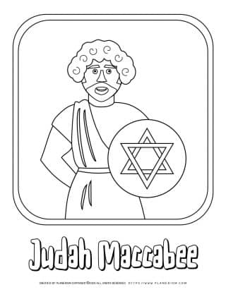 Hanukkah Coloring Pages - Judah Maccabee - Free Printable   Planerium