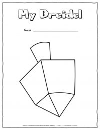 Hanukkah Coloring Pages - My Dreidel - Free Printable | Planerium