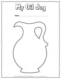 Hanukkah Coloring Pages - Oil Jug - Free Printable | Planerium