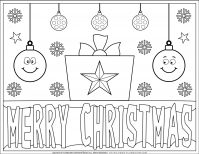 Merry Christmas Coloring Page | Free Printables | Planerium