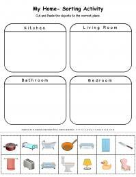 My Home - Worksheet - Sorting Activity | Planerium