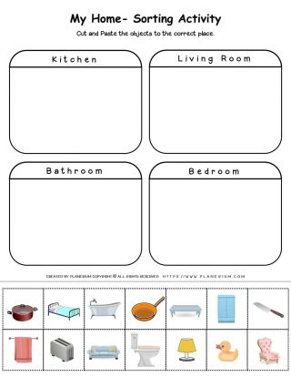 My Home - Worksheet - Sorting Activity   Planerium