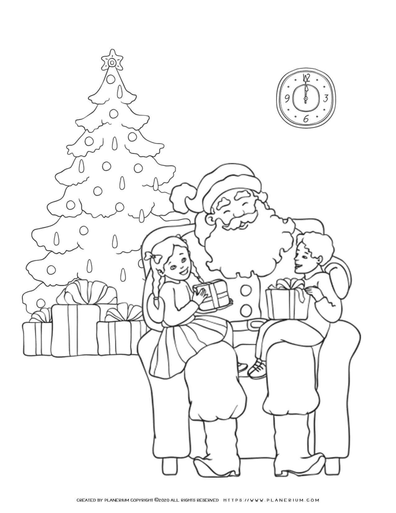 Santa Coloring Page | Free Printables | Planerium