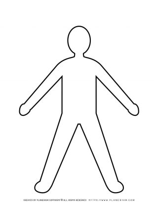 Man Spread Legs and Arms Silhouette   Planerium