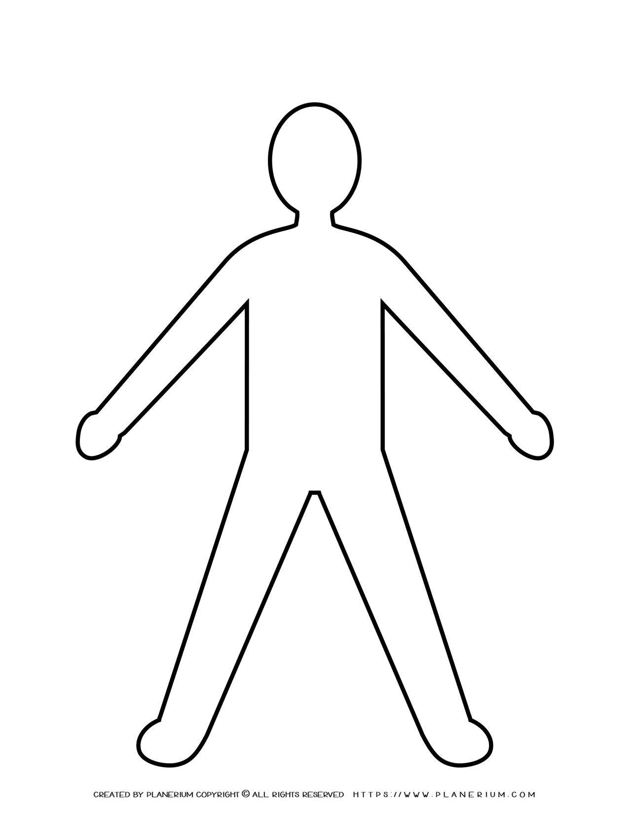 Man Spread Legs and Arms Silhouette | Planerium