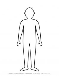 Man Standing Silhouette Outline | Planerium