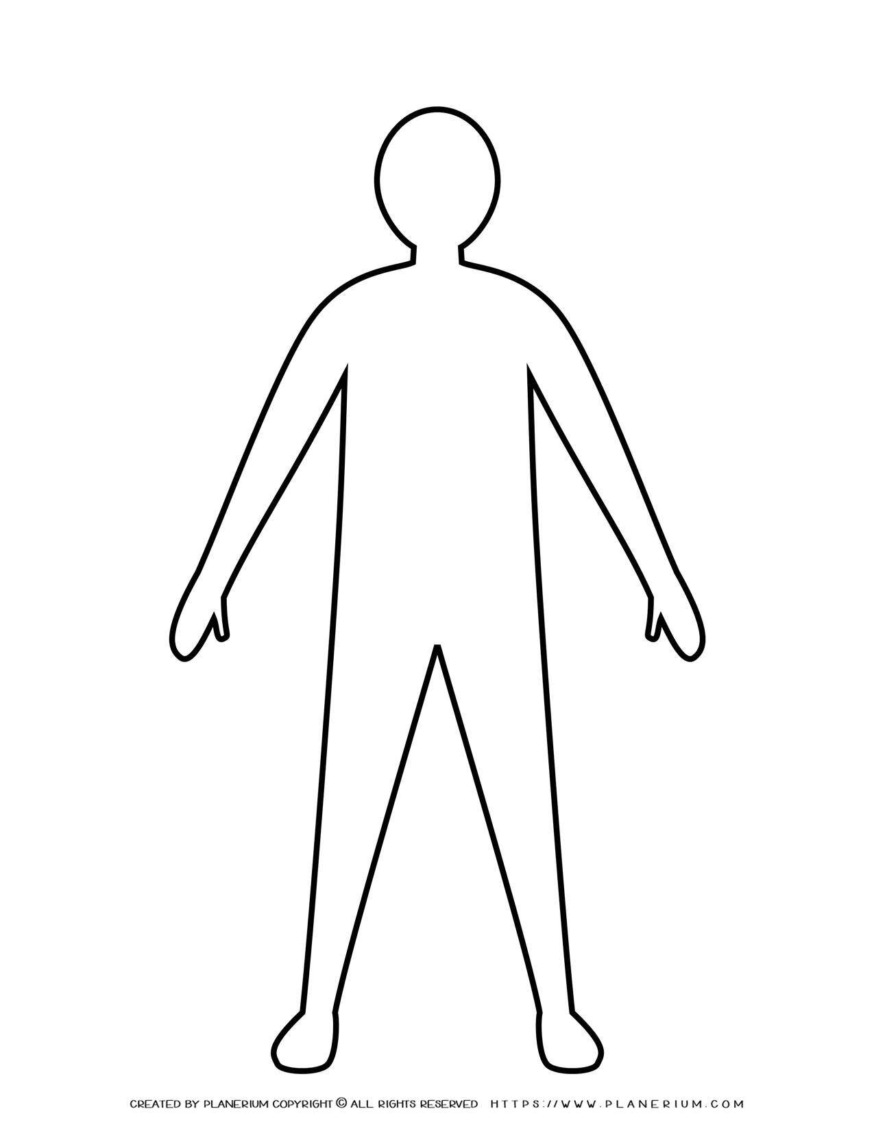 Man Standing With Open Arms Silhouette Outline | Planerium