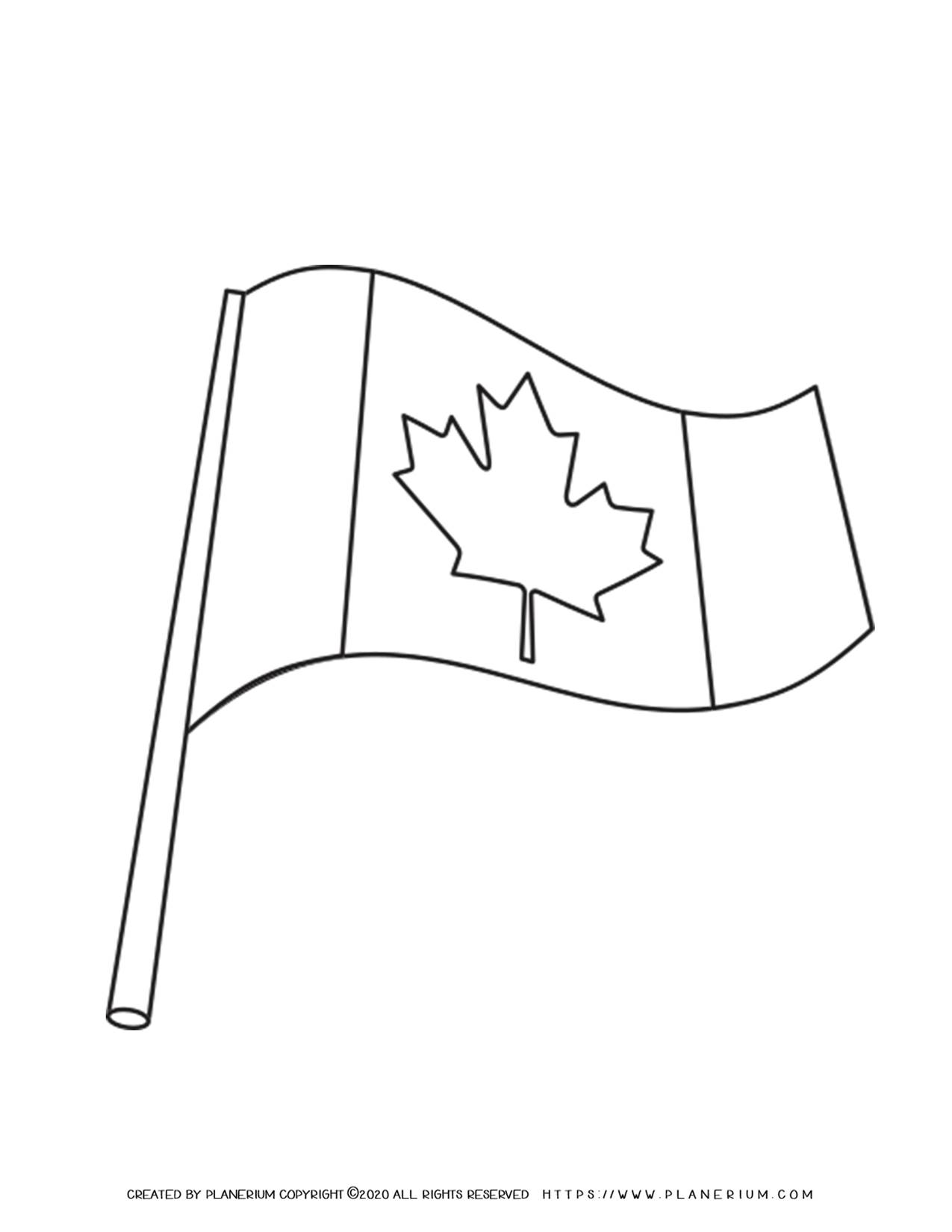Canada Flag - Coloring Page | Planerium
