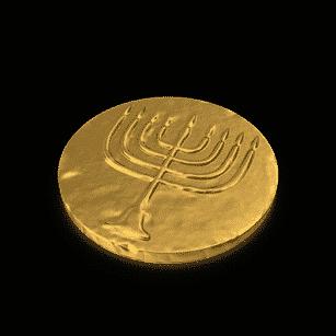 Hanukkah Gelt Coin Covered | Planerium