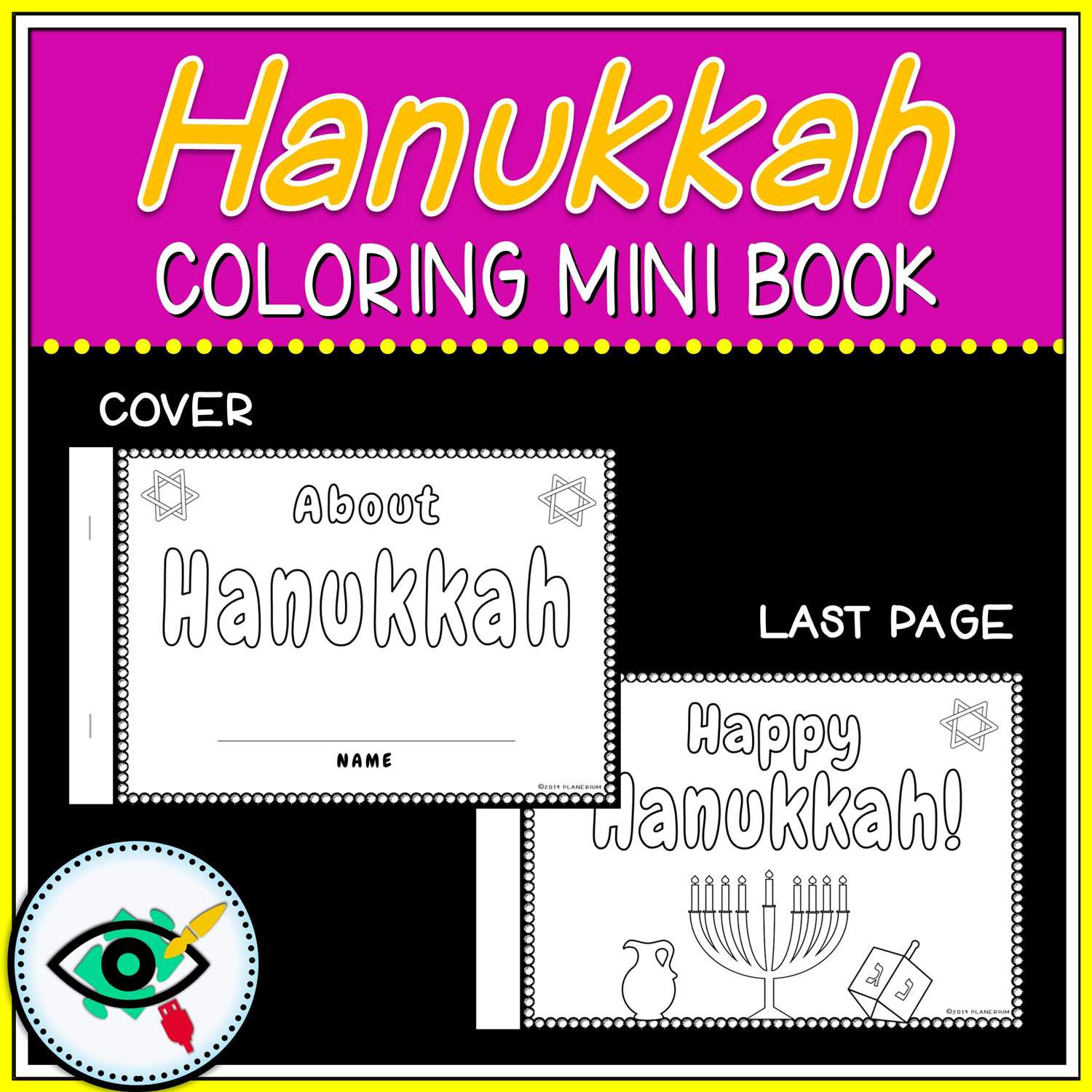 Hanukkah Coloring Pages - Mini Book - Featured One | Planerium