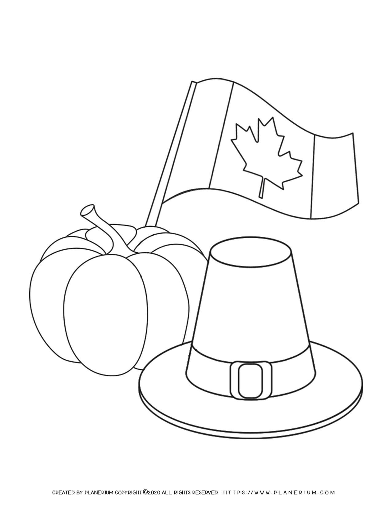 Thanksgiving Symbols - Coloring Page | Planerium