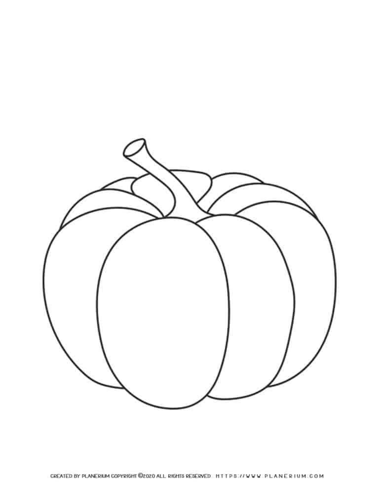 Pumpkin Coloring Page | Planerium