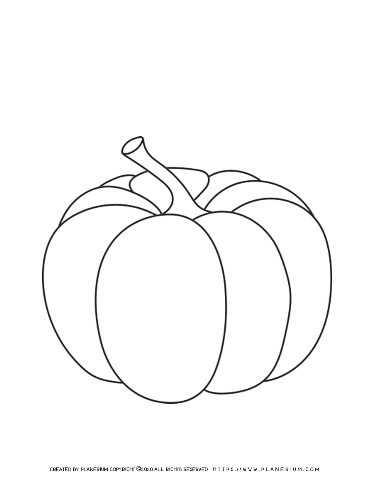 Pumpkin Coloring Page   Planerium