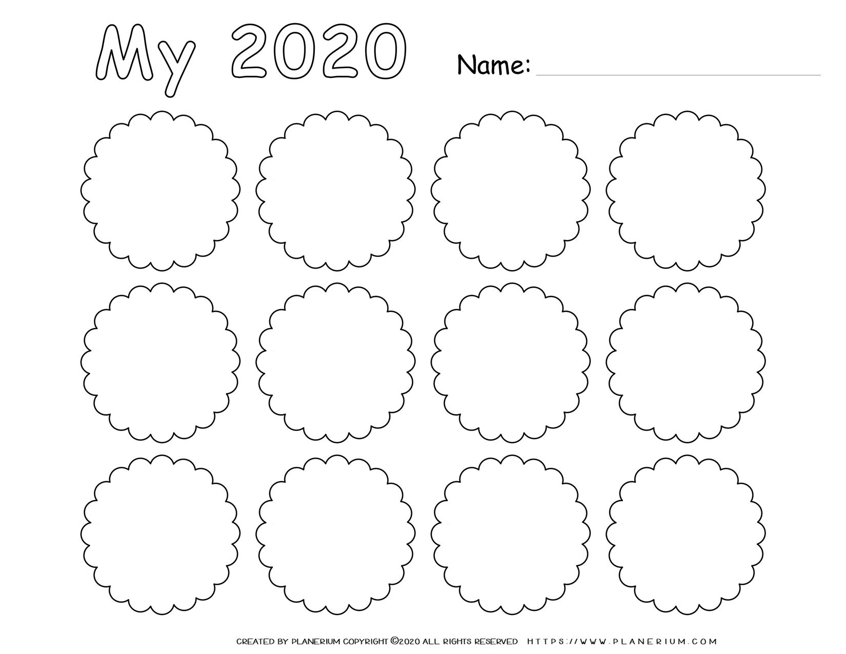 Self Reflection 2020 - Worksheet - Nine Circles Grid | Planerium
